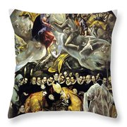 The Burial Of The Count Of Orgaz 1587 Throw Pillow