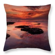 The Burning Cloud Throw Pillow