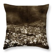 The Burning Of San Francisco Panoramic View Of San Francisco From Twin Peaks April 1906 Throw Pillow