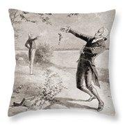 The Burr Hamilton Duel Throw Pillow
