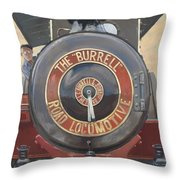 The Burrell Road Locomotive Throw Pillow