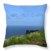 The Burren Pathway Along The Cliff's Of Moher Throw Pillow