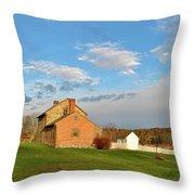 The Bushman House Throw Pillow