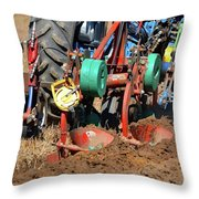 The Business End Of A Tractor  Throw Pillow