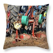 The Business End Of A Tractor Two  Throw Pillow