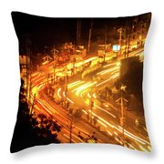 The Busy City Throw Pillow