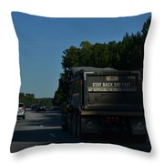 The Busy Highway Throw Pillow