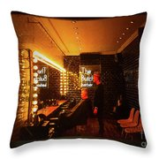 The Butcher Barber Throw Pillow