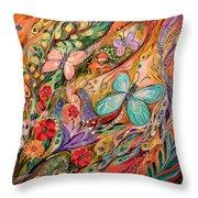 The Butterflies On Wind Throw Pillow