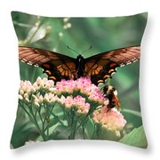The Butterfly And The Bumblebee Throw Pillow