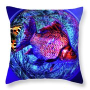The Butterfly And The Fish Throw Pillow by Joseph Mosley