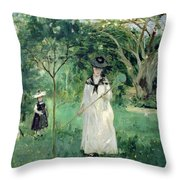 The Butterfly Hunt Throw Pillow