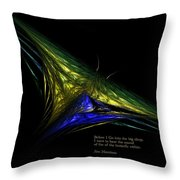 The Butterfly Within Throw Pillow