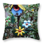 The Buttlerfly Landed Throw Pillow