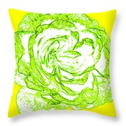 The Cabbage Rose Throw Pillow