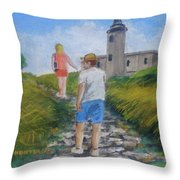The Cabo Rojo Light House In Puerto Rico Throw Pillow