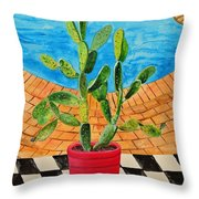 The Cactus From Nigeria Throw Pillow