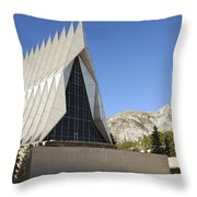 The Cadet Chapel At The U.s. Air Force Throw Pillow