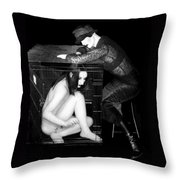 The Cage 1 - Self Portrait Throw Pillow