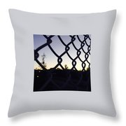 The Caged Morning  Throw Pillow