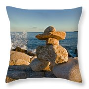 The Cairns Of Hunts Point Nova Scotia Throw Pillow