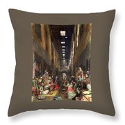 The Cairo Bazaar Throw Pillow