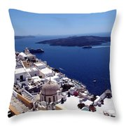 The Caldera, Santorini Throw Pillow