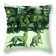 The Call For Help Throw Pillow