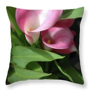 The Calla Lily Throw Pillow