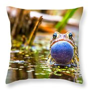 The Calling Frog Throw Pillow