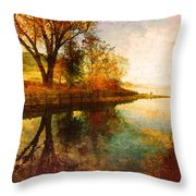 The Calm By The Creek Throw Pillow