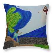 The Calm In My Storm Throw Pillow