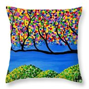 The Calming Tree  Throw Pillow