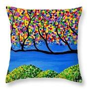 The Calming Tree  Throw Pillow