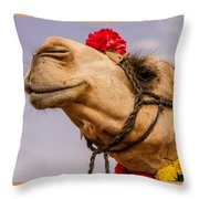 The Camel Beauty Throw Pillow