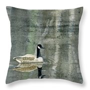 The Canadian Goose Throw Pillow