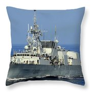 The Canadian Patrol Frigate Hmcs Throw Pillow