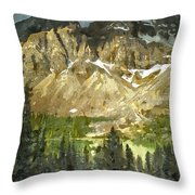 The Canadian Rockies Throw Pillow