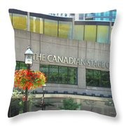 The Canadian Stage Company Throw Pillow