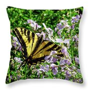 The Canadian Tiger Swallowtail Throw Pillow