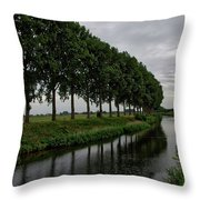 The Canal Throw Pillow