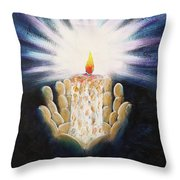 The Candle Of The Lord Throw Pillow