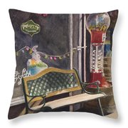 The Candy Shop Throw Pillow