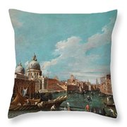 The Cannament Of The Great Canal Throw Pillow
