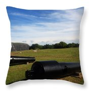 The Cannons At Fort Moultrie In Charleston Throw Pillow