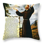 The Canticle Of The Creatures By St. Francis Of Assisi Throw Pillow