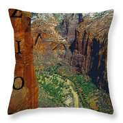 The Canyon Of Zion Throw Pillow