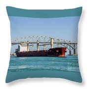 The Cape At Blue Water Bridges Throw Pillow