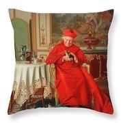 The Cardinal's Favourite Throw Pillow