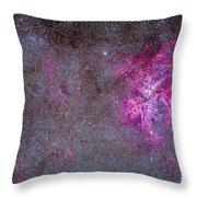The Carina Nebula And Surrounding Throw Pillow